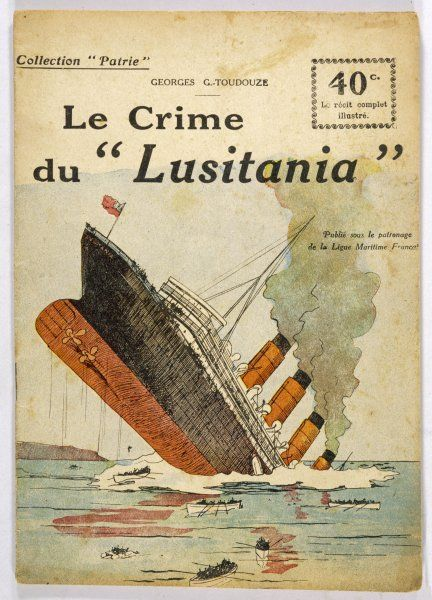 This dramatic cover page conveys the shock felt after the 'Lusitania' was torpedoed