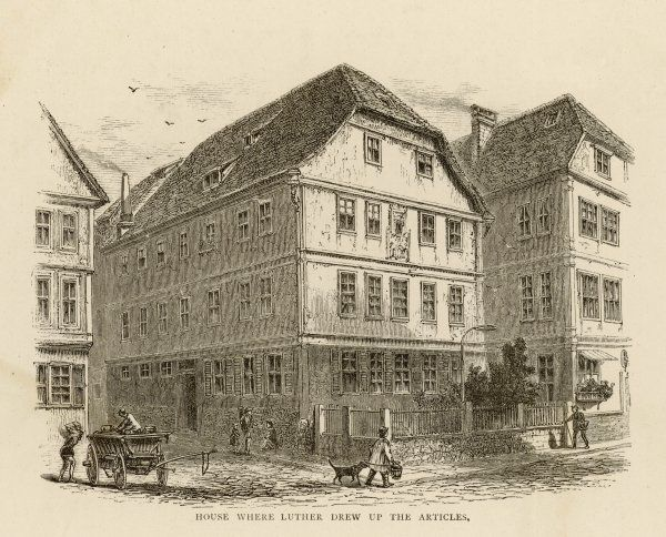 Luther's residence at Wittenberg, where he drew up the Articles