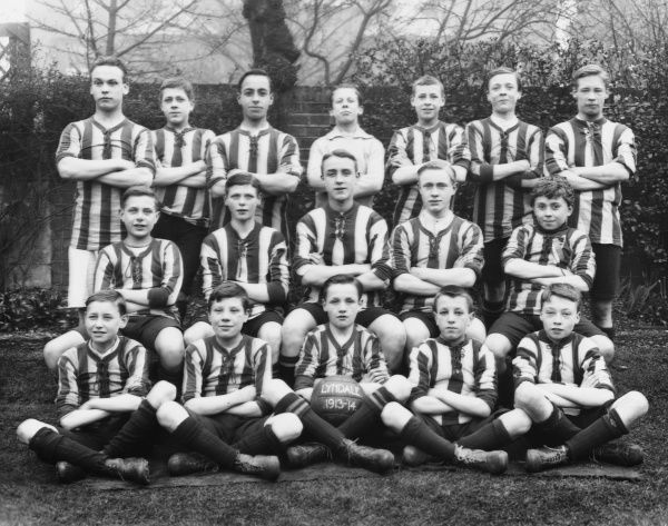 A wonderful formal group photograph of the Lyndale Boys Football Club for the 1913 - 1914 season