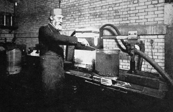 Ferdinand Frederick Henro Moissan (1852-1907) pictured with his electric furnace