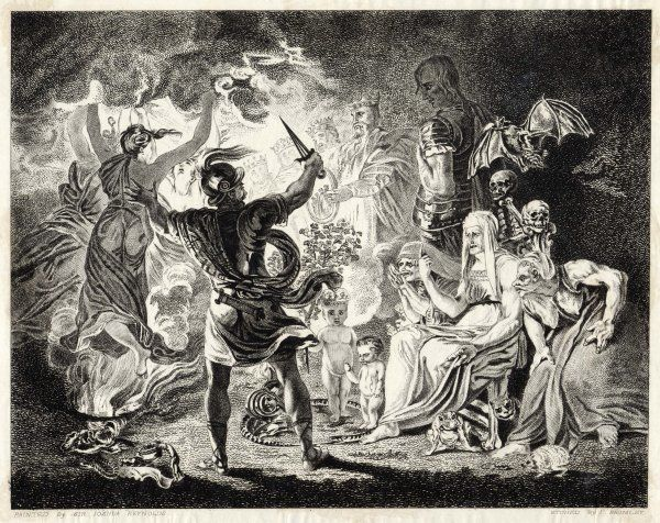 Act V, Scene I Macbeth is shown an apparition of a succession of eight kings, one of whom is Banquo