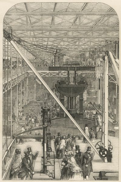 The machinery court at the Crystal Palace exhibition
