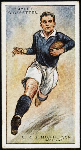 G P S MacPherson, player for Oxford University, Captain for Scotland