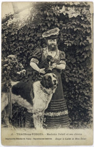 This St Bernard can be proud that he is owned by Madame Delait, of Thaon-les-Vosges, who is described as the best- known bearded lady of France
