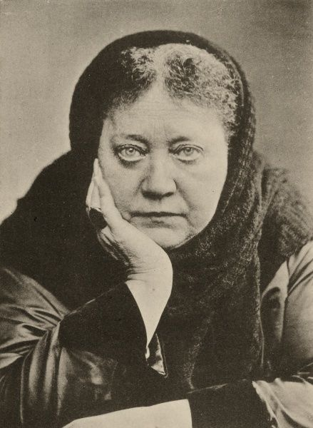Undated cutting of head and shoulders photograph of Madame Helena Blavatsky - founder of Theosophy and the Theosophical Society. HPG/1/13/1 (ii)