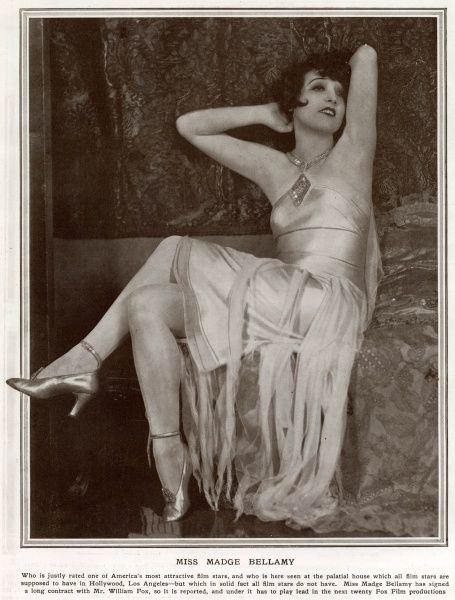 MADGE BELLAMY (1899 1990) American film actress who was a popular leading lady in the 1920s and early 1930s. Date: 1928