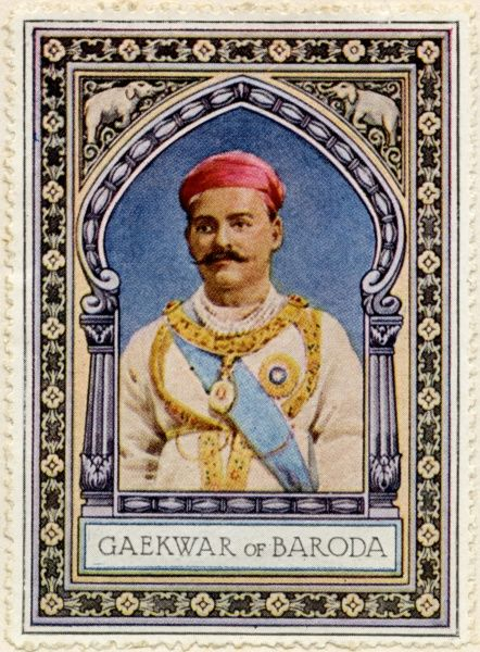 SAYAJIRAO GAEKWAD III (Shrimant Gopalrao Gaekwad) (1863 - 1939) The Maharaja of Baroda from 1875 to 1939, and a notable reformist
