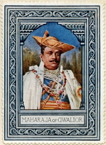 MADHO RAO SCINDIA (1875 - 1925), was the 5th Maharaja Scindia of Gwalior. He acceded to the throne in 1886 and ruled to his death in 1925