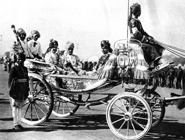 The Maharajah Jam Saheb of Nawanager, before going to the front