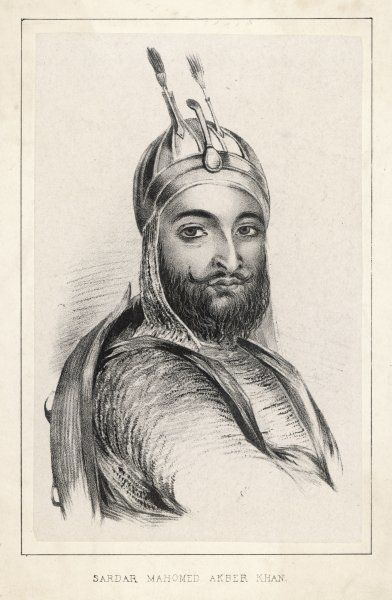 SARDAR MAHOMED AKBAR KHAN son of Dost Mohammad, led a successful rebellion against the pro-British Afghan ruler Shah Shuja in 1841