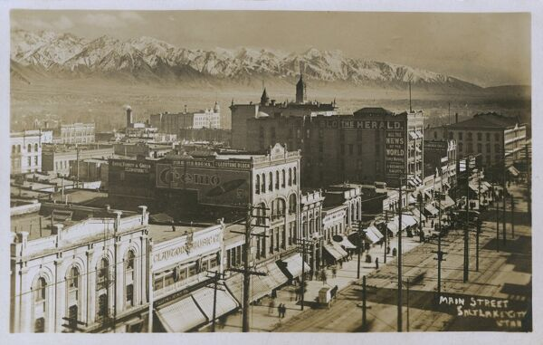Main Street - Salt Lake City, Utah, USA Date: circa 1910s