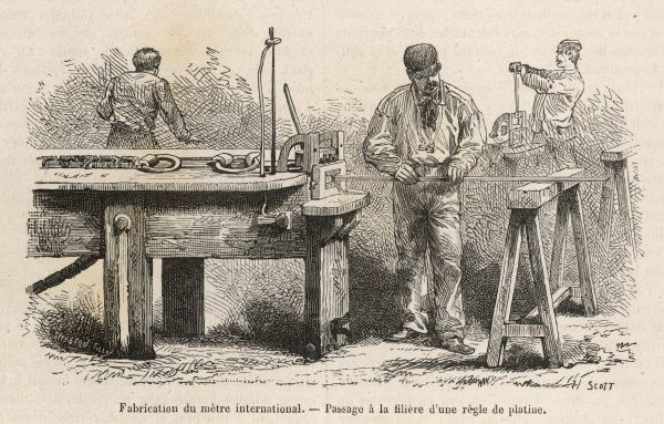 The making of the standard International Metre in France