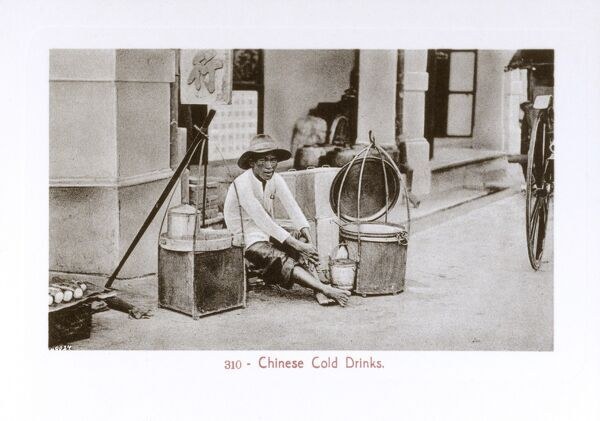 Malaysia - Kuala Lumpur - Seller of Chinese Cold Drinks Date: circa 1910s