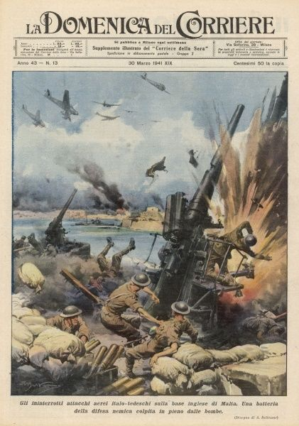 The defence of Malta : the island's strategic value makes it the target for intense bombardment by the Italians and Germans, but they fail to dislodge the Allies