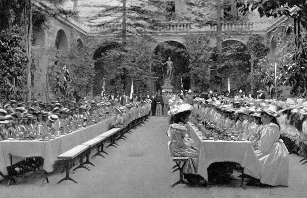 Governor's Palace, Valletta: feast for children on the occasion of Victoria's Diamond Jubilee Date: 1897