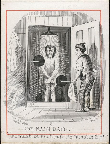 "(6 of 12) Water Cure at Malvern 'The Rain Bath' ""You must be shut in for 15 minutes Sir!&quot"