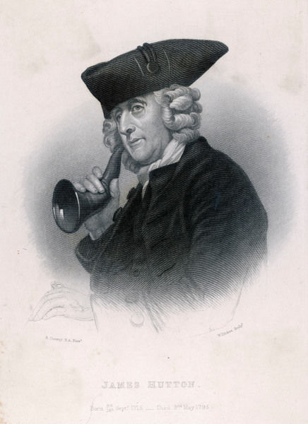 Man with ear trumpet. (James Hutton, founder of the Moravian Church in Britain)