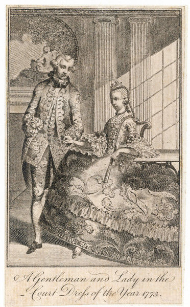 A Gentleman and Lady in the Court Dress of the Year 1773