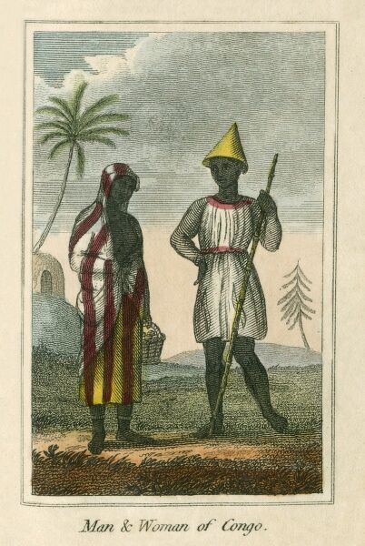 Man and Woman of the Congo. A book of national types and costumes from the early 19th century