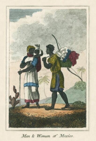 A man and woman of Mexico. A book of national types and costumes from the early 19th century