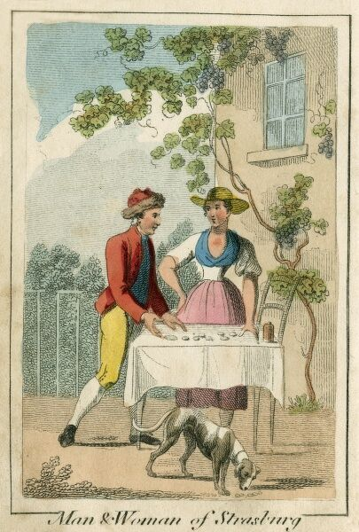 Man & Woman of Strasbourg. A book of national types and costumes from the early 19th century