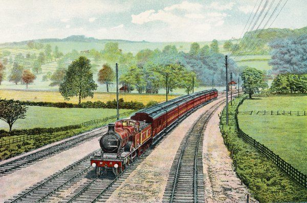 Midland Railways's London to Manchester Express in the Chevin Valley
