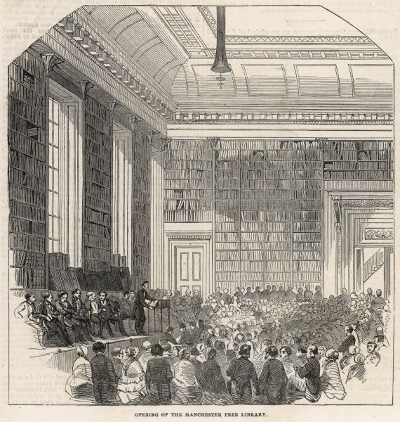 The ceremonial opening of the Manchester Free Library