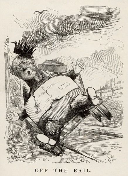 'OFF THE RAIL' The speculations of railway financier George 'King' Hudson (1800-1871), start to collapse