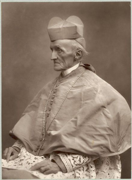 HENRY EDWARD MANNING cardinal, wearing his ecclesiastical robes with lots of lace, and a crucifix suspended from his neck
