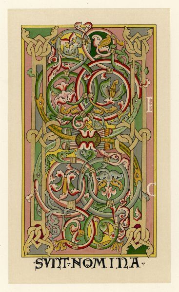 Interlacing folial designs from a German Bible