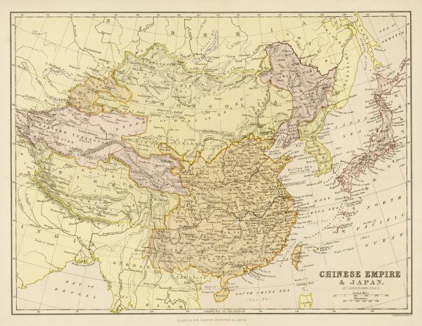 Map of the Chinese Empire and Japan