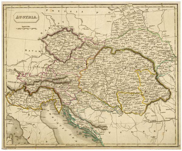 Map of the Austrian Empire