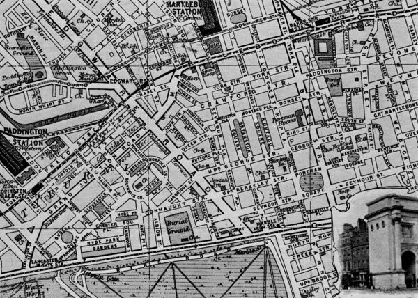 Map Of London 1900.Map Of The St Marylebone Area London Date Circa 1900 Photo