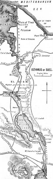 Map of the Suez Canal Date: 1908
