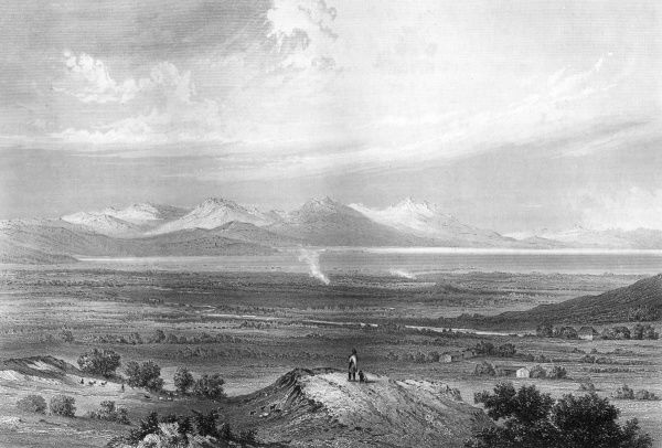 'The mountains look on Marathon, and Marathon looks on the sea' (Byron) - scene of battle between Athenians and Persians (490 BCE) and the run bearing the news of victory. Date: 1850