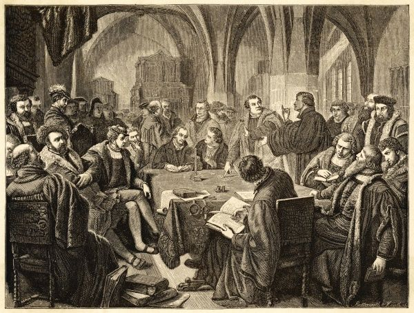 Ulrich Zwingli in October 1529 Controversy with Martin Luther at Marburg