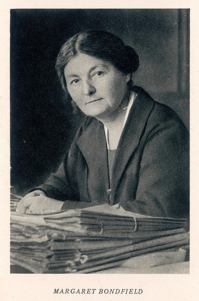 MARGARET GRACE BONDFIELD English shopworker, socialist, entered politics, opposed World War One, rose to become Britain's first woman cabinet minister. Photo circa 1824