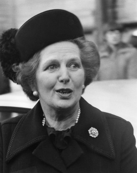 Margaret Thatcher (1925 - ). Conservative British Prime Minister between 1979 and 1990, now Baroness Thatcher
