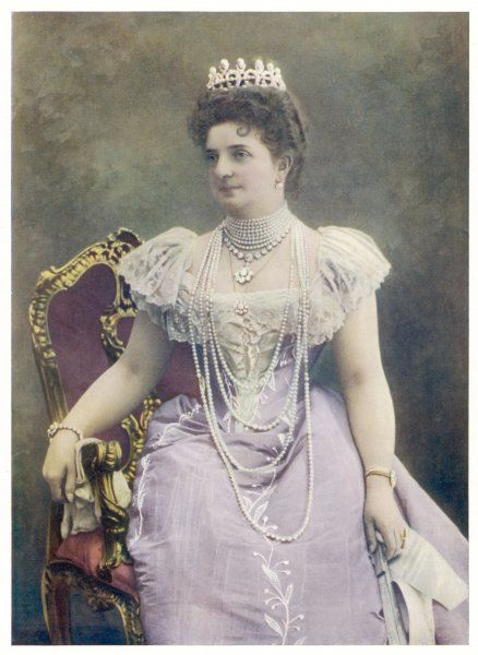 MARGHERITA OF SAVOY Queen of Umberto I of Italy, in 1901
