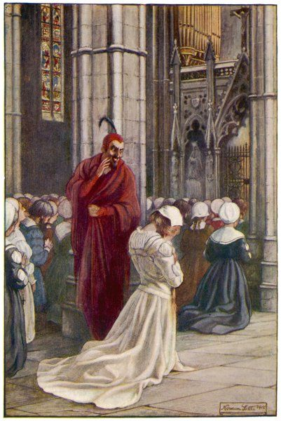 Mephistopheles mocks Marguerite in the Cathedral