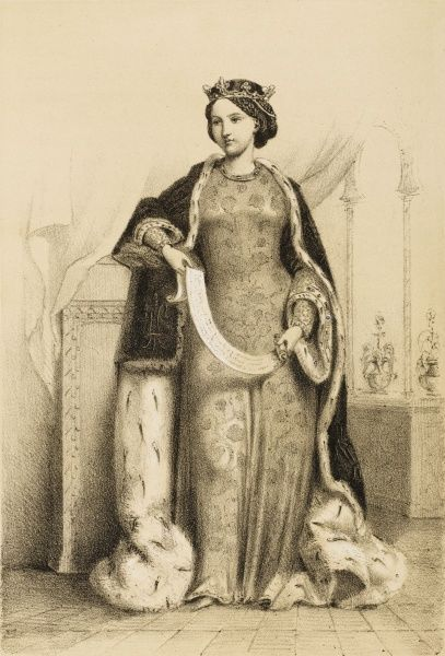 MARGUERITE DE FRANCE Second wife of Edward I, King of England; daughter of Philippe III of France