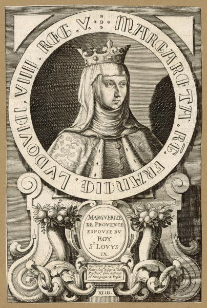 MARGUERITE DE PROVENCE queen of Louis IX, king of France