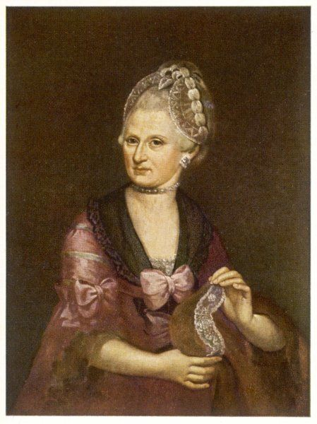 MARIA ANNA MOZART nee PERTL Wolfgang Amadeus Mozart's mother: she married Leopold Mozart on 21 November 1747