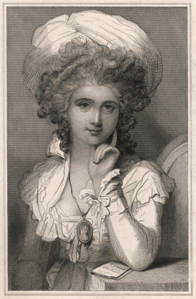 MARIA LOUISA CATHERINE CECILIA COSWAY (nee Hadfield) wife and model of the artist Richard Cosway