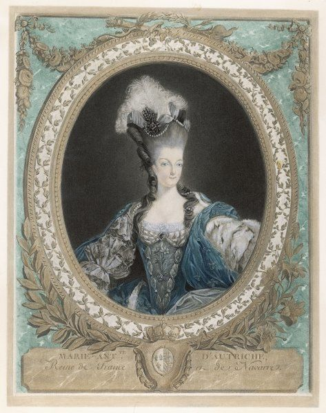 Queen of Louis XVI, depicted in 1777, at age 22