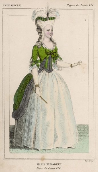 (MARIE) ELISABETH DE FRANCE sister of Louis XVI