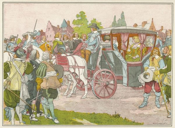 French closed carriage used by Marie de Medicis, widow of Henri IV, during her travels in the Netherlands