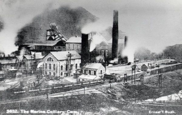 View of the Marine Colliery, Cwm, Ebbw Vale, Gwent, South Wales. Date: early 20th century