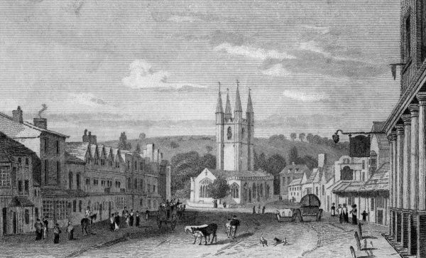 The main street of Marlborough, Wiltshire Date: circa 1830