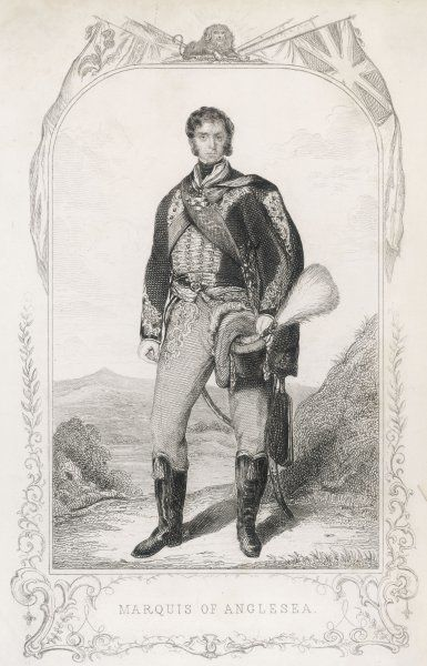 HENRY WILLIAM PAGET, first marquis of ANGLESEY soldier, depicted before the battle of Waterloo while he still had both of his legs